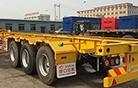 迈出国门 中国重汽20辆半挂车出口非洲营口安泰挂车